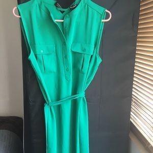 NWT: Adrienne Vittadini Green Sleeveless Dress